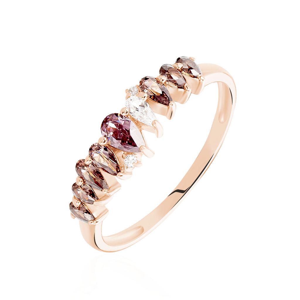 Pavéring Silber 925 Rosé Vergoldet Rosa Zirkonia - Kategorie Damen   Oro Vivo