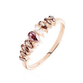 Pavéring Silber 925 Rosé Vergoldet Rosa Zirkonia - Kategorie Damen | Oro Vivo