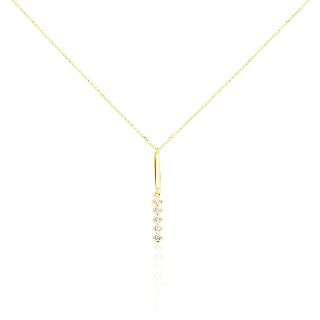 Damen Halskette Gold 375 Zirkonia - Kategorie Damen | Oro Vivo