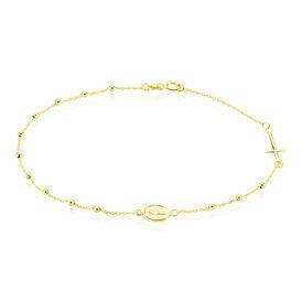 Damenarmband Gold 375 Kreuz - Armbänder  | Oro Vivo