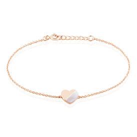 Damenarmband Silber 925 Rosé Vergoldet Herz - Armbänder Damen | Oro Vivo