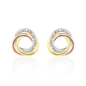 Damen Ohrstecker Silber 925 Tricolor Zirkonia - Kategorie Damen | Oro Vivo