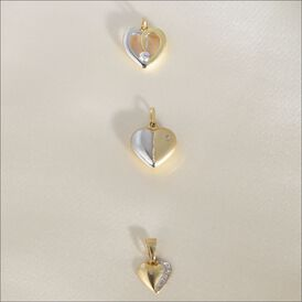 Anhänger Gold 333 Bicolor Herz - Herzanhänger Damen | Oro Vivo