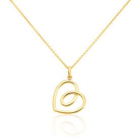Damen Halskette Edelstahl Vergoldet Herz - Herzketten Damen | Oro Vivo