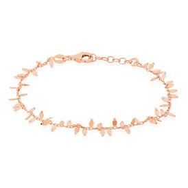 Damenarmband Silber 925 Rosé Vergoldet Blütenblatt - Armbänder Damen   Oro Vivo