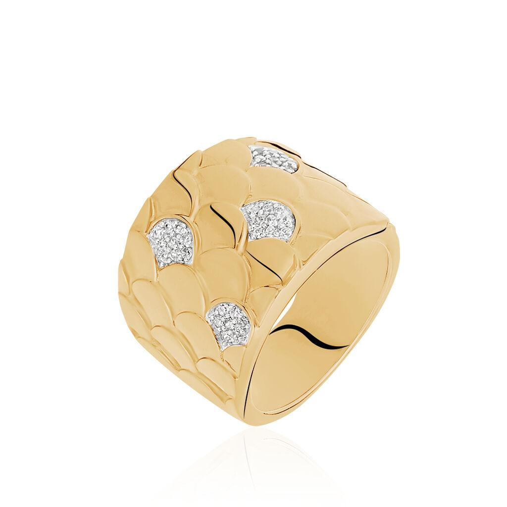 Damenring Silber 925 Vergoldet Glitzer - Black Friday Damen | Oro Vivo