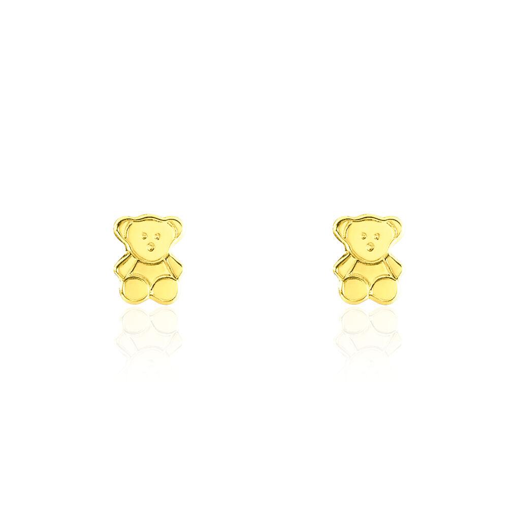 Kinder Ohrstecker Gold 375 Bär - Ohrstecker Kinder | Oro Vivo