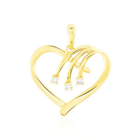 Anhänger Gold 375 Diamanten 0,012ct Herz - Herzanhänger Damen | Oro Vivo