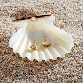 Damen Ohrstecker Silber 925 Vergoldet Zirkonia - Ohrstecker Damen   Oro Vivo