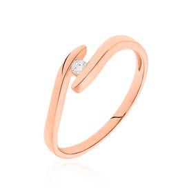 Spannring Roségold 375 Diamant 0,05ct - Ringe mit Edelsteinen Damen | Oro Vivo