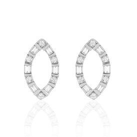 Damen Ohrstecker Weißgold 750 Diamanten 0,24ct - Ohrstecker    Oro Vivo