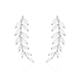 Damen Ohrklemme Silber 925 Zirkonia - Ohrringe    Oro Vivo