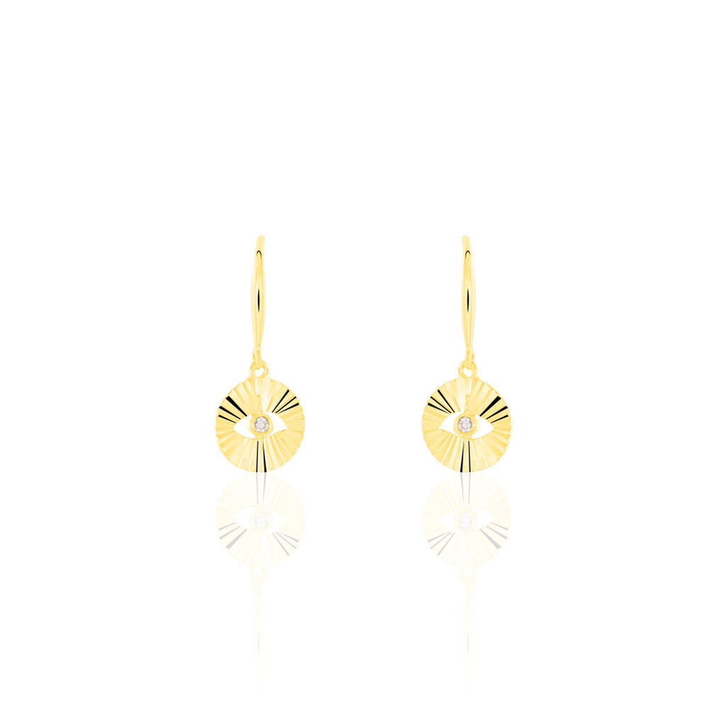 Damen Ohrhänger Gold 375 Diamant 0,02ct  - Ohrhänger Damen   Oro Vivo