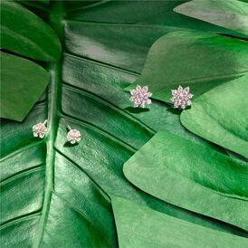 Damen Ohrstecker Silber 925 Rosé Vergoldet Blume - Ohrstecker Damen | Oro Vivo