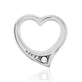 Anhänger Silber 925 Zirkonia Herz - Herzanhänger Damen   Oro Vivo