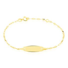Kinder Id Armband Gold 375 Gravierbar  - Schmuck Kinder | Oro Vivo