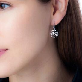 Damen Ohrhänger Lang Silber 925 Lebensbaum -  Damen | Oro Vivo