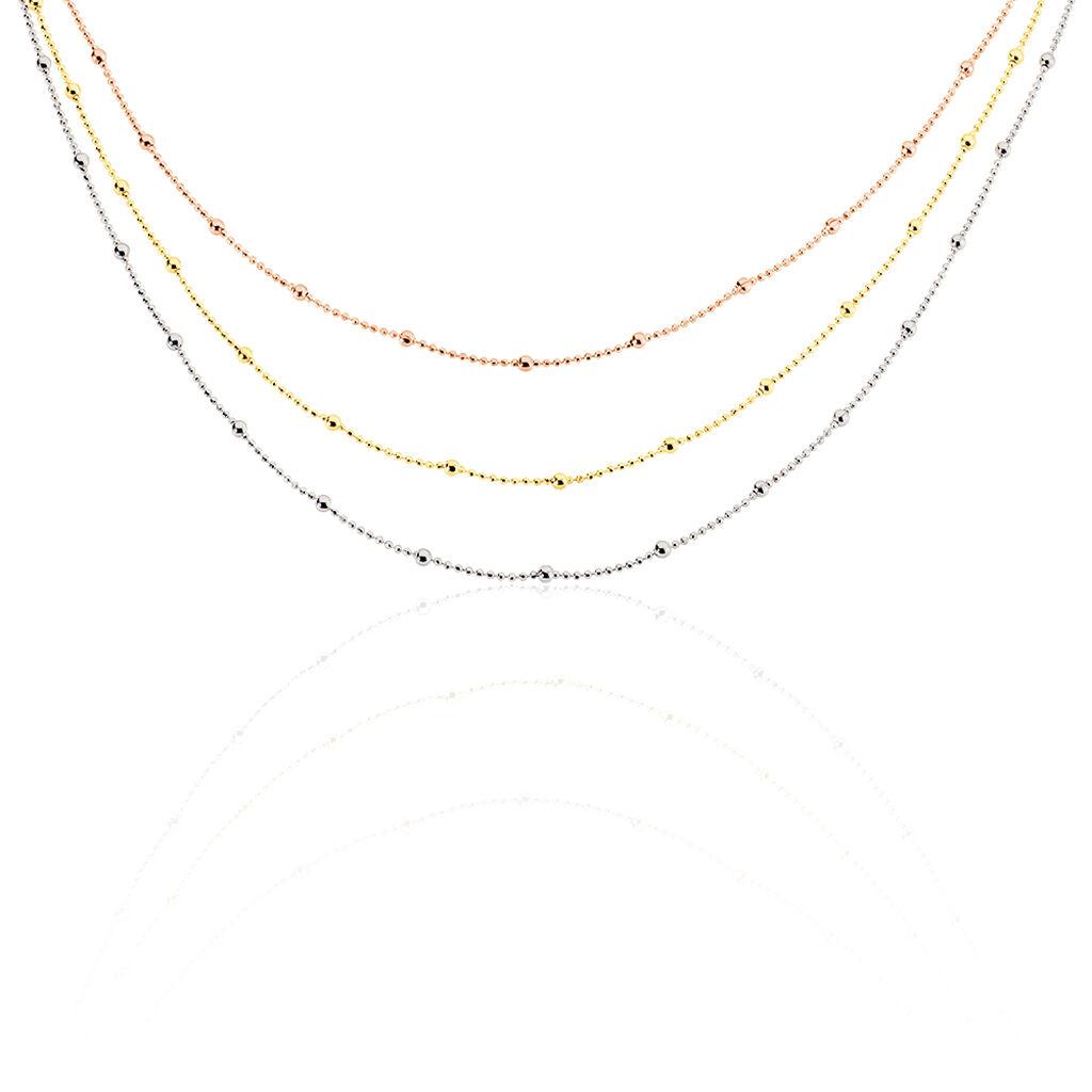 Damen Halskette Silber 925 Tricolor Vergoldet - Ketten ohne Stein Damen | Oro Vivo