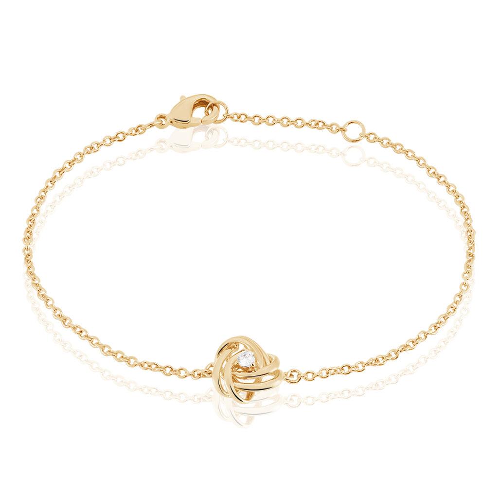 Damenarmband Vergoldet Zirkonia Knoten - Armbänder Damen | Oro Vivo