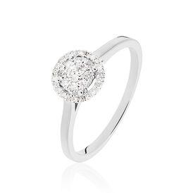 Damenring Weißgold 375 Diamant 0,2ct - Ringe mit Edelsteinen Damen | Oro Vivo