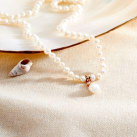 Damen Collier Silber 925 Rosé Vergoldet - Ketten mit Stein Damen | Oro Vivo