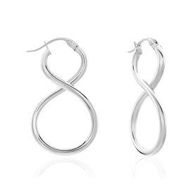 Damen Creolen Silber 925 Infinity - Creolen Damen | Oro Vivo