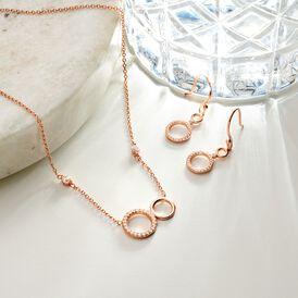 Damen Halskette Silber 925 Rosé Vergoldet - Ketten mit Anhänger  | Oro Vivo