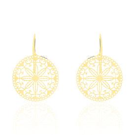 Damen Ohrhänger Lang Gold 375 Blume - Ohrhänger Damen | Oro Vivo