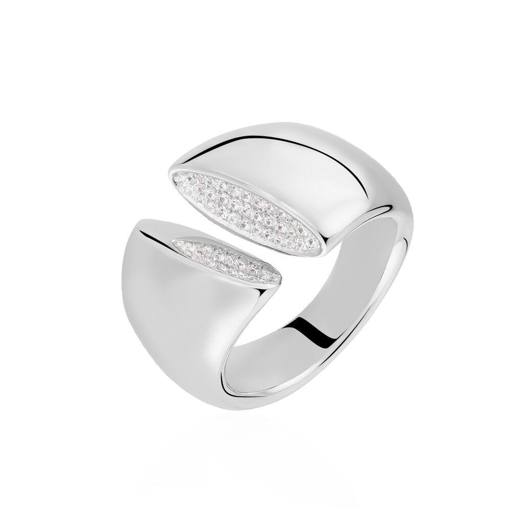 Damenring Silber 925 Zirkonia - Ringe mit Stein Damen | Oro Vivo