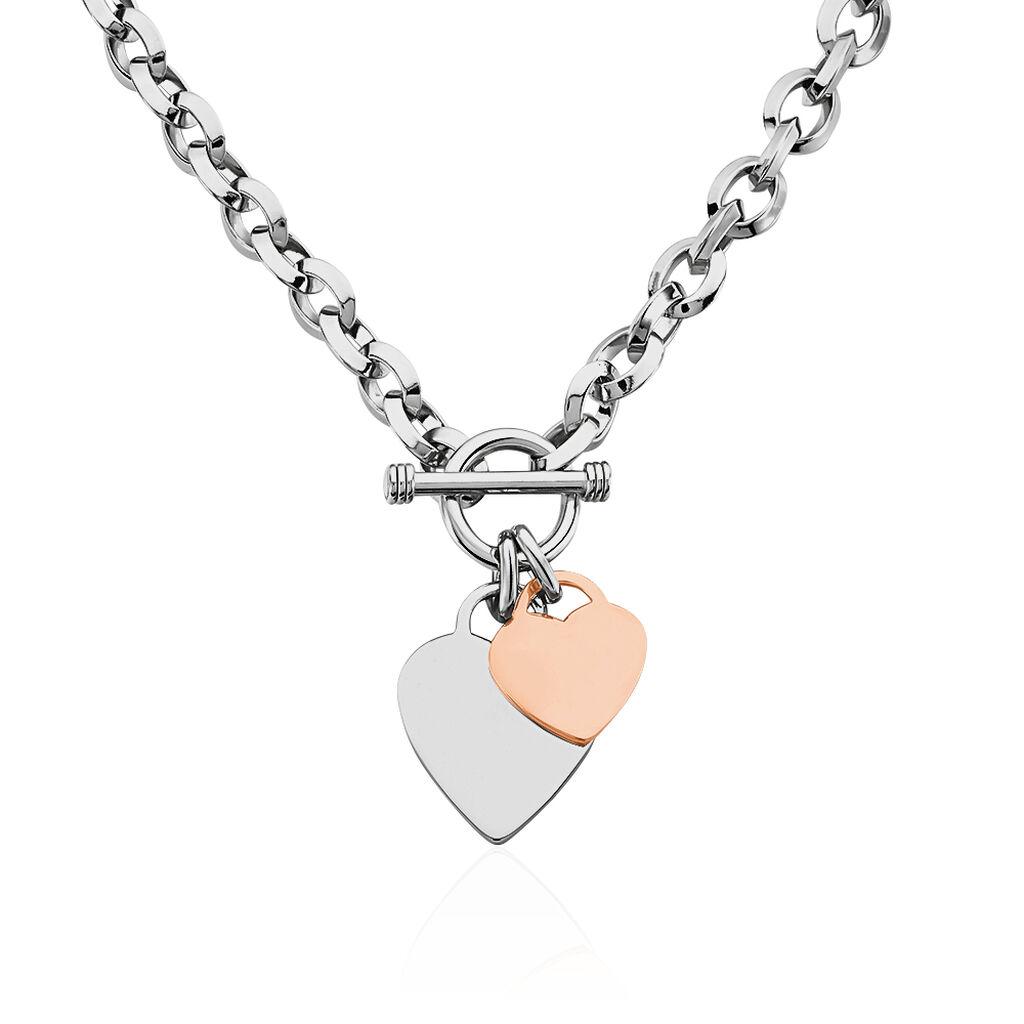 Damen Halskette Silber 925 Bicolor Vergoldet Herz - Kategorie Damen | Oro Vivo