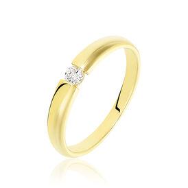 Spannring Gold 585 Diamant 0,1ct - Ringe mit Edelsteinen Damen   Oro Vivo