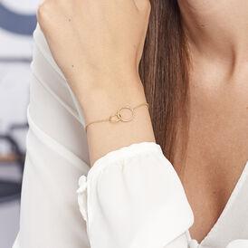 Damenarmband Vergoldet Doppelt Kreis  - Armbänder Damen | Oro Vivo