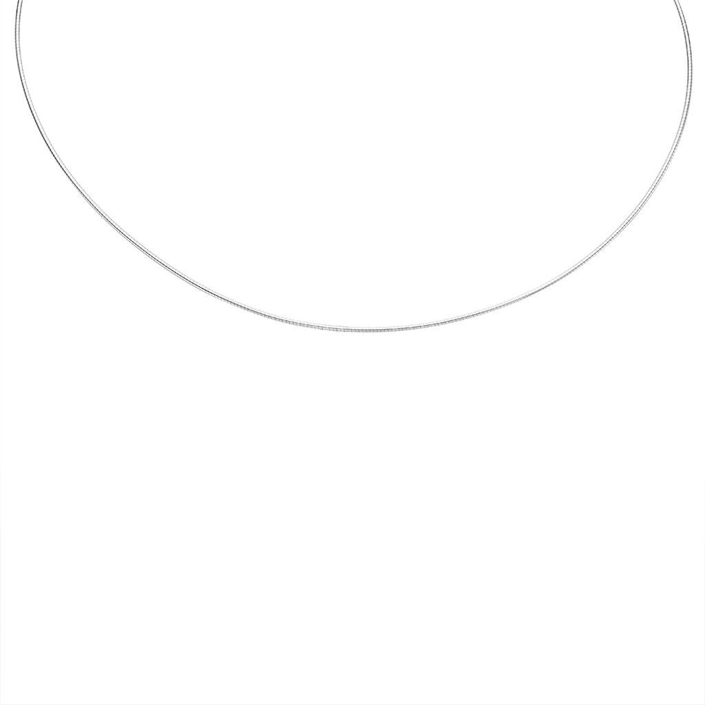 Damen Omegakette Silber 925 40cm - Ketten ohne Anhänger Damen   Oro Vivo