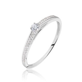 Damenring Weißgold 375 Diamant 0,14ct -  Damen | Oro Vivo