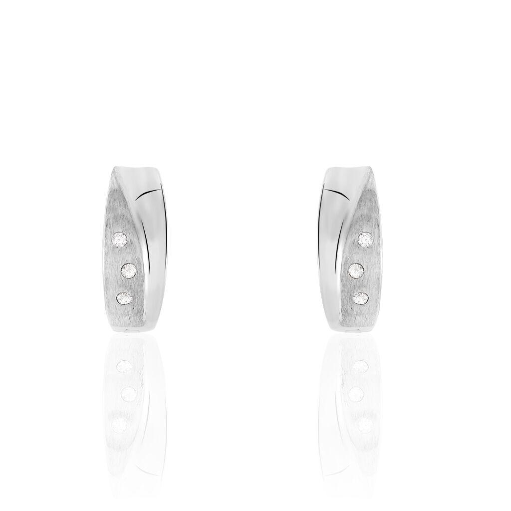 Damen Creolen Silber 925 Zirkonia  - Kategorie Damen | Oro Vivo