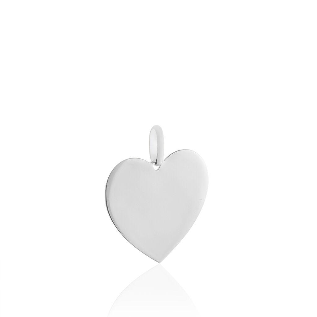 Anhänger Weißgold 375 Herz - Herzanhänger Damen | Oro Vivo