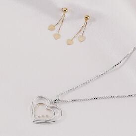 Damen Halskette Silber 925 Diamant 0,027ct - Herzketten Damen   Oro Vivo