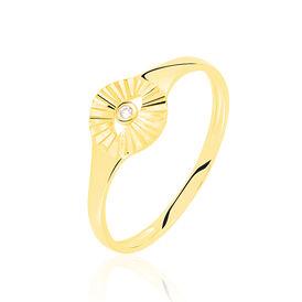 Damenring Gold 375 Diamant 0,01ct  - Ringe mit Edelsteinen    Oro Vivo