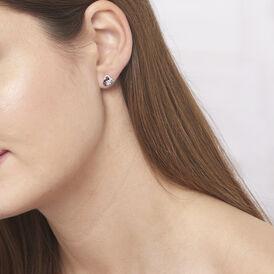 Damen Ohrstecker Weißgold 375 Diamanten 0,08ct - Ohrstecker Damen | Oro Vivo