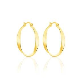 Damen Creolen Silber 925 Vergoldet  - Creolen Damen | Oro Vivo