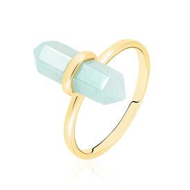 Damenring Silber 925 Vergoldet Amazonit - Ringe mit Stein  | Oro Vivo