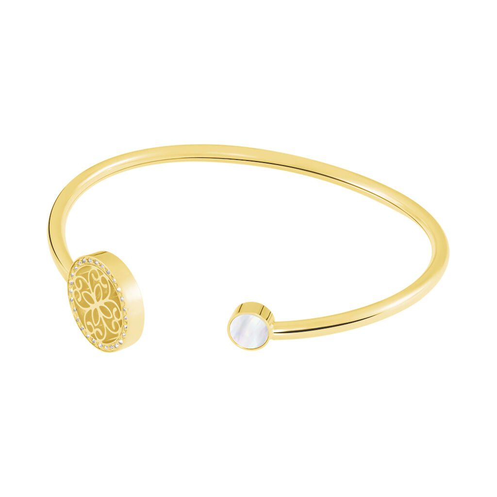 Damenarmband Edelstahl Vergoldet Kristal - Armreifen Damen | Oro Vivo