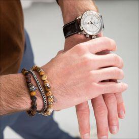 Herrenarmband Edelstahl Labradorit Jaspis - Armbänder Herren | Oro Vivo