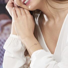 Damenarmband Gold 375 Bicolor Diamant 0,062ct - Armbänder Damen | Oro Vivo