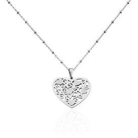 Damen Halskette Edelstahl Herz - Herzketten Damen | Oro Vivo