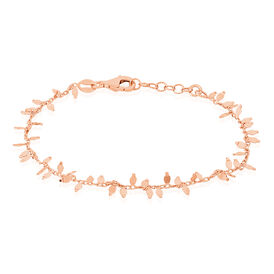 Damenarmband Silber 925 Rosé Vergoldet Blütenblatt - Armbänder Damen | Oro Vivo