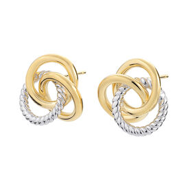 Damen Ohrstecker Vergoldet Bicolor - Ohrstecker Damen | Oro Vivo