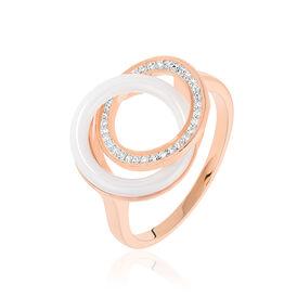 Damenring Silber 925 Rosé Vergoldet Zirkonia - Black Friday Damen   Oro Vivo
