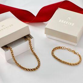 Damenarmband Fuchsschwanzkette Edelstahl Vergoldet -  Damen | Oro Vivo