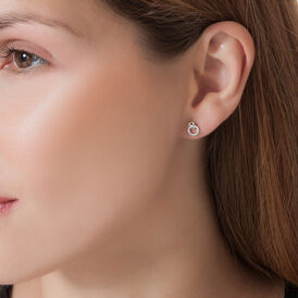 Damen Ohrstecker Weißgold 375 Diamant 0,068ct - Ohrstecker Damen | Oro Vivo